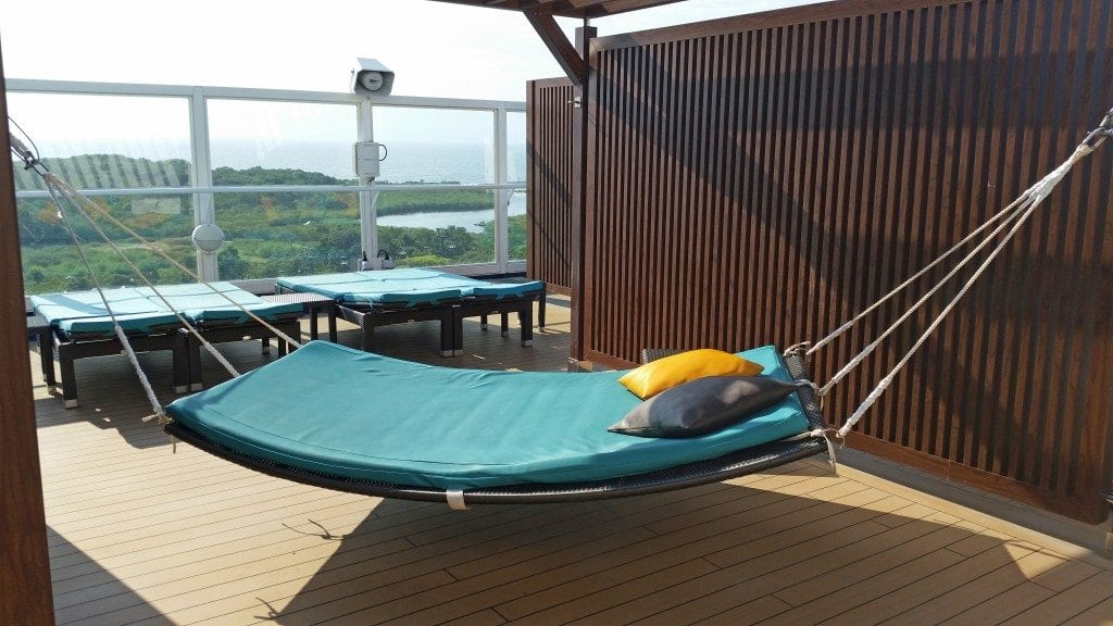 Hammock on Serenity deck Carnival Sunshine