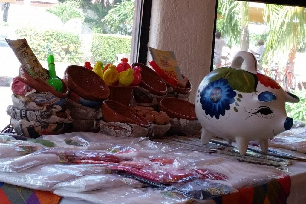 Items for sale at Salsa and Margaritas Class in Cozumel Mexico