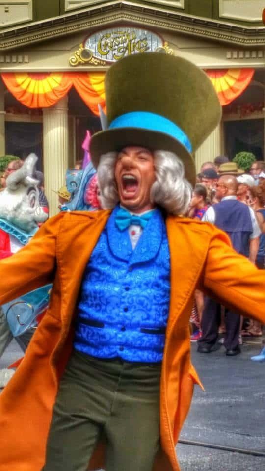 Mad Hatter Disney World Parade