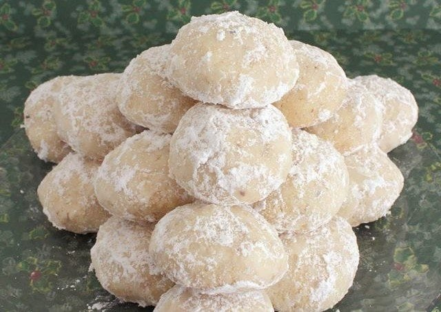 Snowball Cookies Also Known As Mexican Wedding Cookies