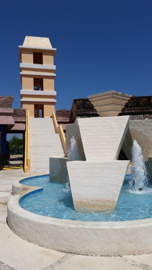 Water Fountain at Costa Maya cruise terminal