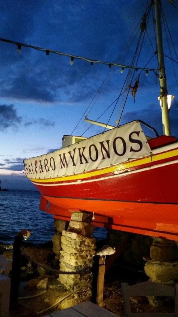 boat in Mykonos