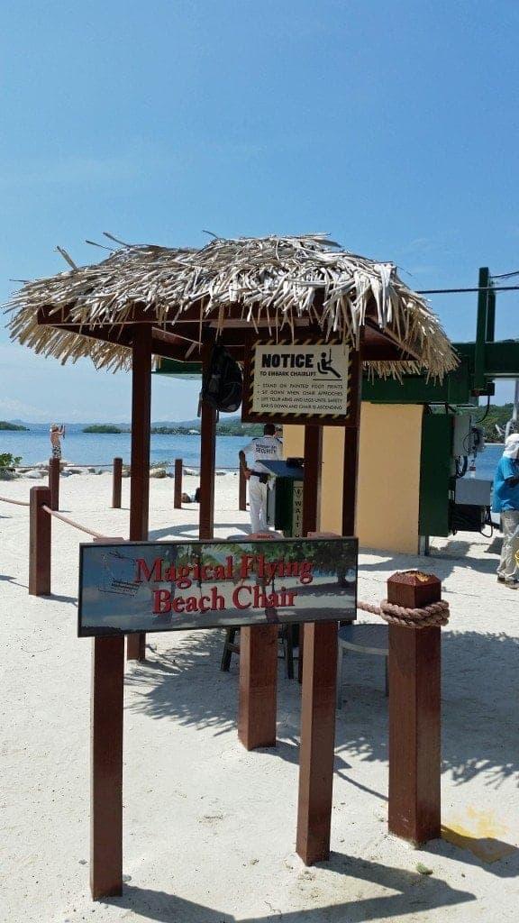 magical flying beach chair Roatan