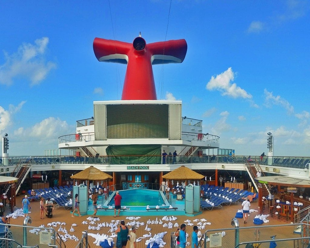 overlooking towel zoo on Carnival Sunshine