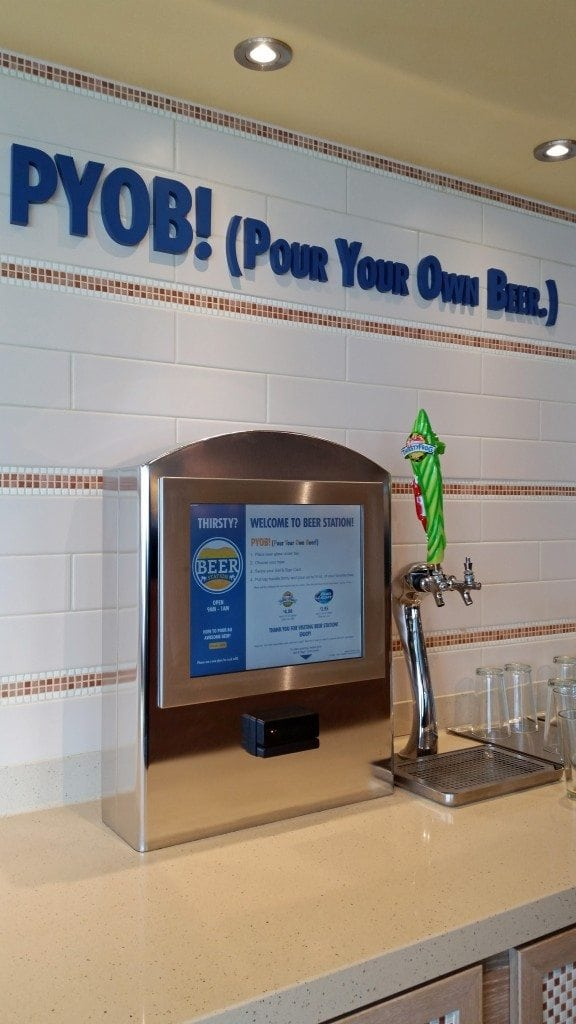 pour your own beer Carnival Sunshine