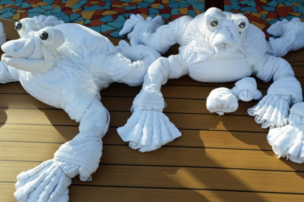 towel frogs on Carnival Sunshine