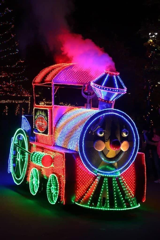 train in christmas parade Silver Dollar City Branson Missouri