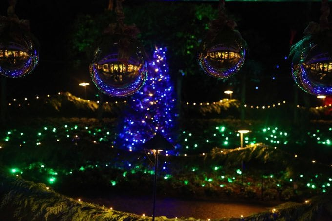 Butchart Gardens Victoria BC Holiday Light Display