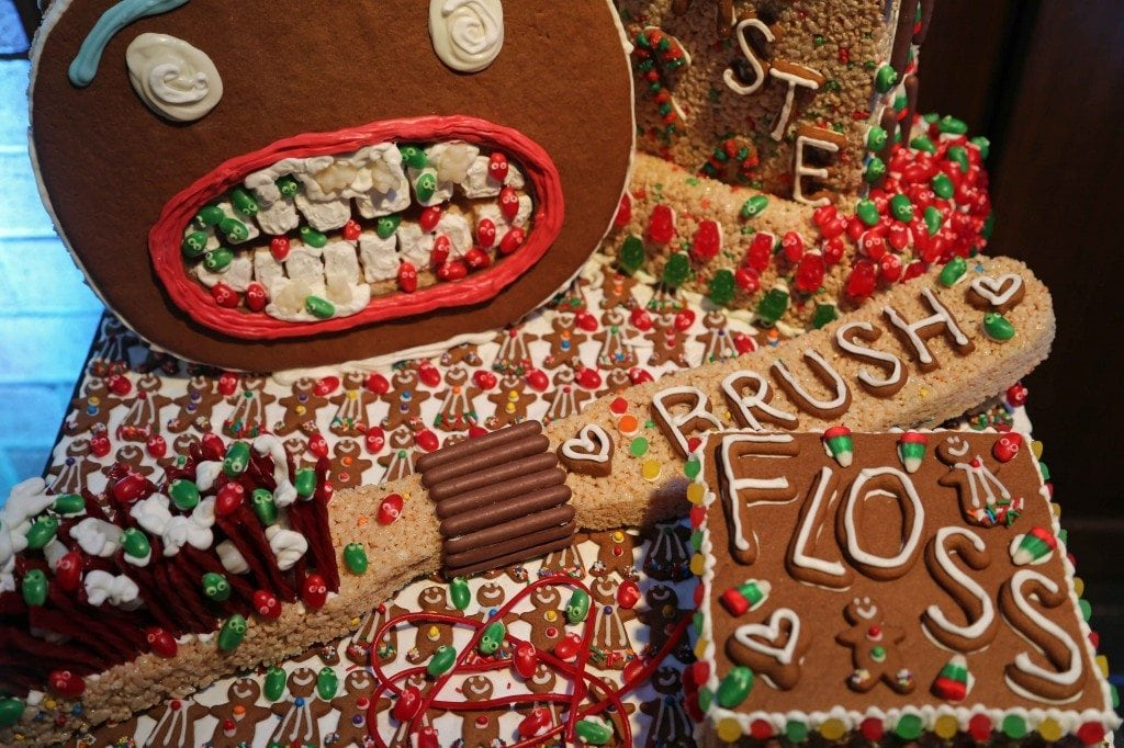 Blog dentist version of a gingerbread house