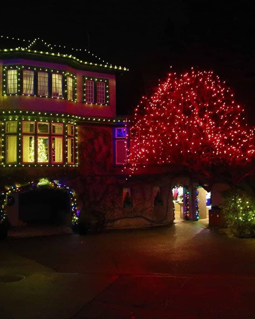 Blog lights at Buchart Gardens Victoria BC