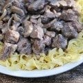 Crock Pot Steak Stroganoff