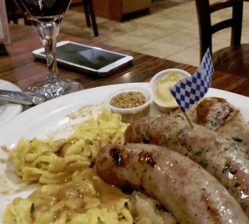 Das Stein Haus Sausage Platter