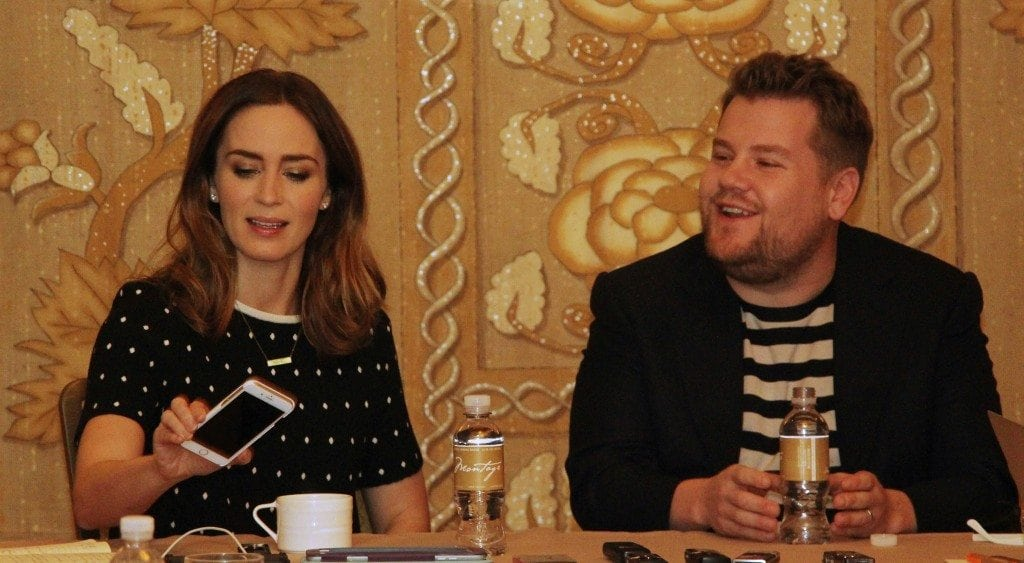 Emily Blunt and James Corden