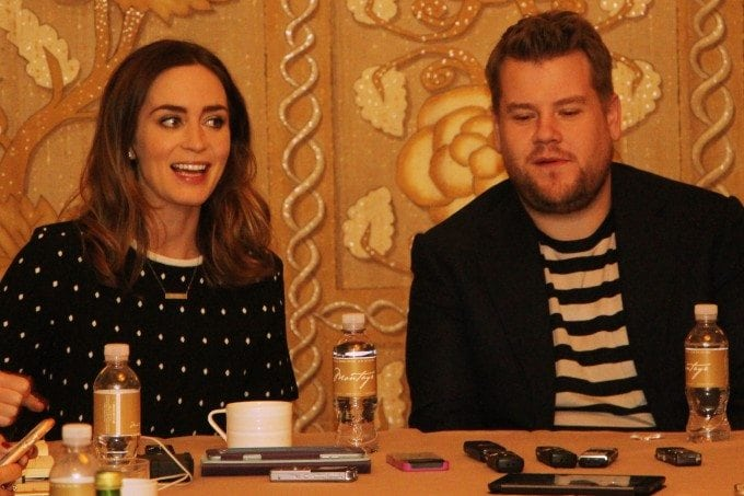 Into the Woods interview with Emily Blunt and James Corden