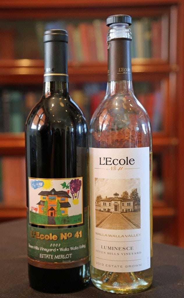 Labels at L`Ecole No 41 Winery