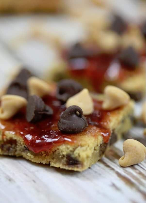 things first let's dive into the Peanut Butter and Jelly Cookie Bars ...
