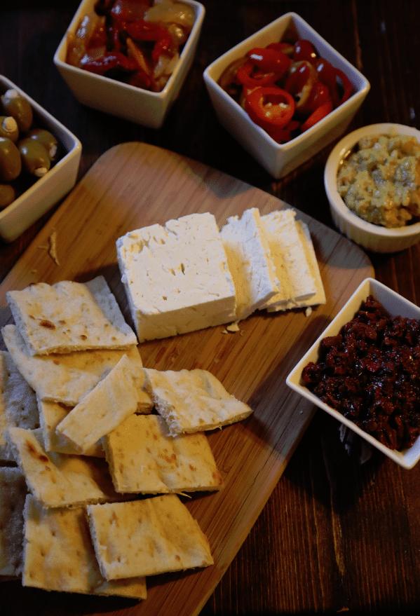 easy greek appetizer platter