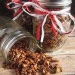 gingerbread granola gift jar