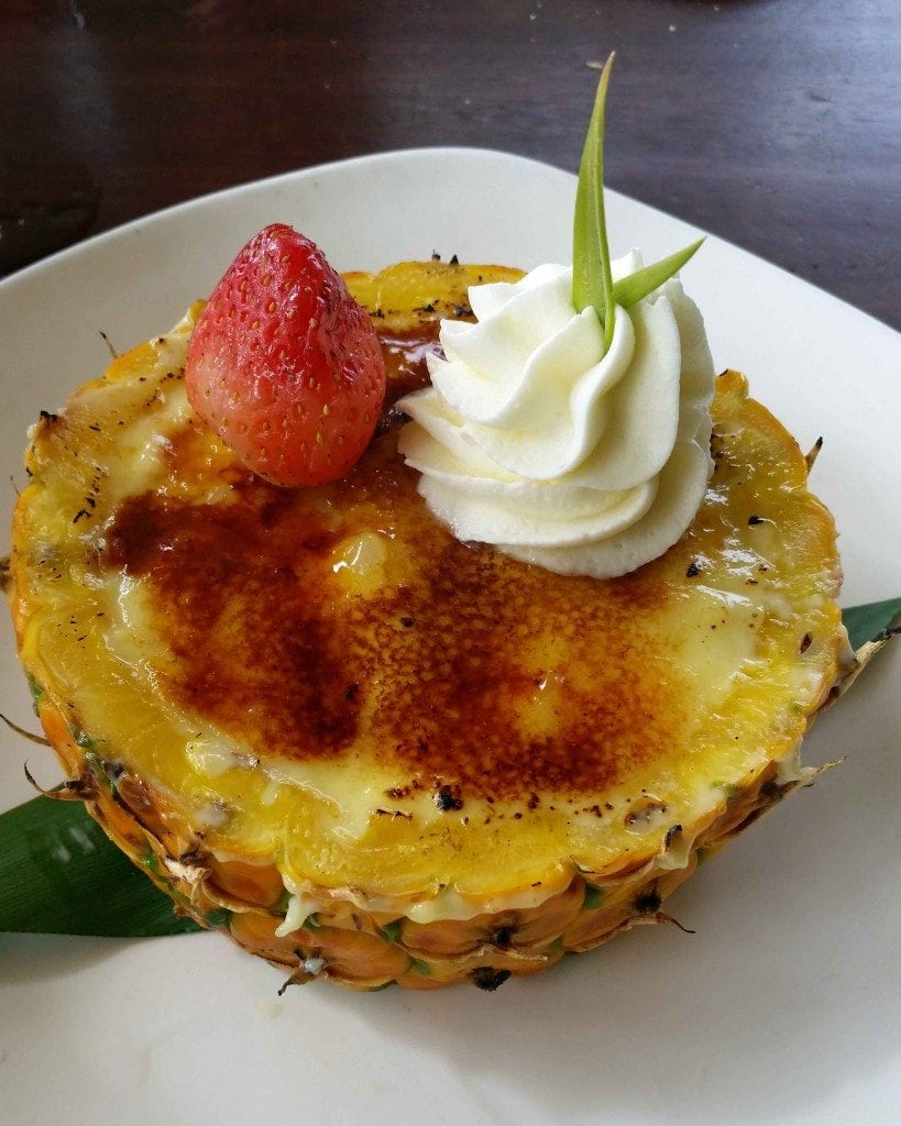 Blog pineapple Creme Burlee