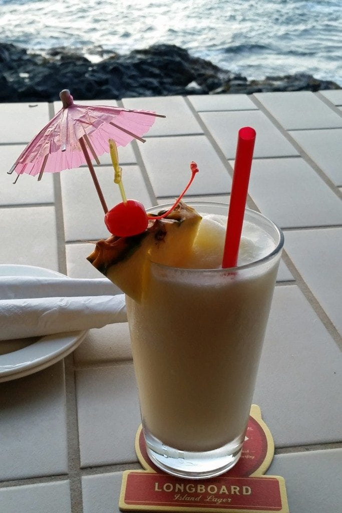Pina Colada at Don the Beachcombers Kona Hawaii