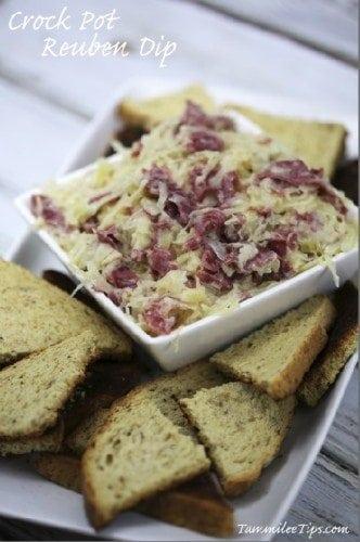 Super Easy Crock Pot Reuben Dip Recipe