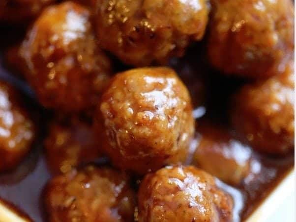 Cranberry Barbecue Crock Pot Meatballs