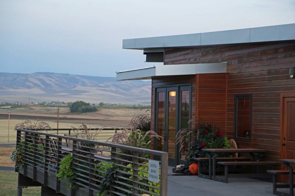 entrance of Amavi Cellars tasting room Walla Walla Washington
