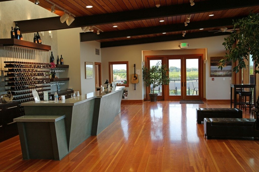 inside tasting room at Amavi Cellars Walla Walla Washington