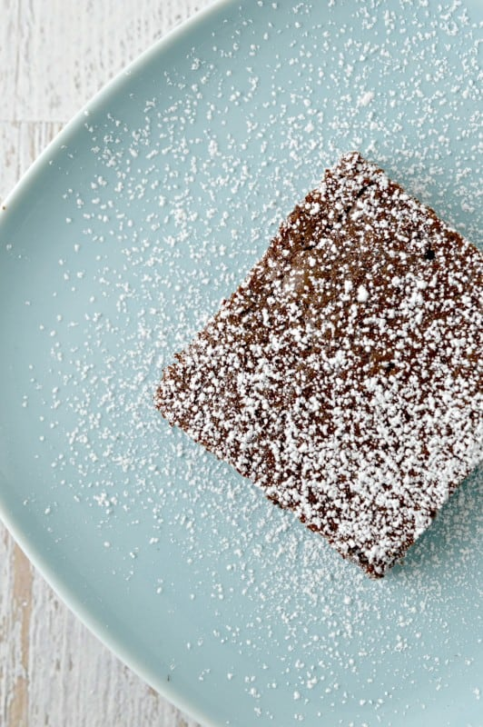 Classic Brownie Recipe with powdered sugar