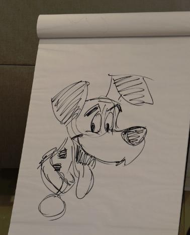 Floyd Norman 101 Dalmatian Sketch
