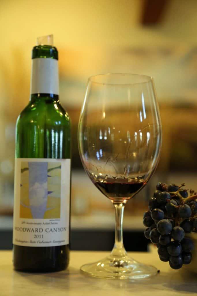Wine tasting at Woodward Canyon Winery