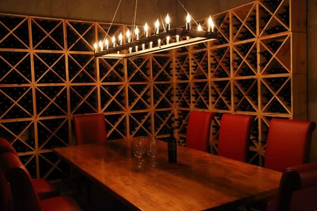back room of PepperBridge Winery