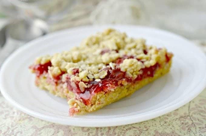 Cherry Cake Bars Recipe