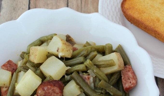 Crock Pot Kielbasa and Green Beans with Potatoes Recipe