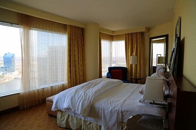 JW Marriott room overlooking Grand Rapids