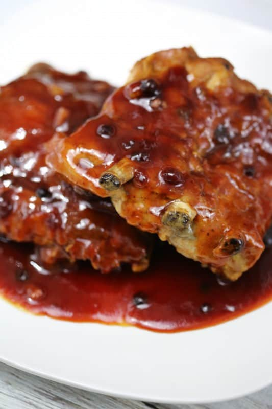 Huckleberry Crock Pot Barbecue Ribs Recipe