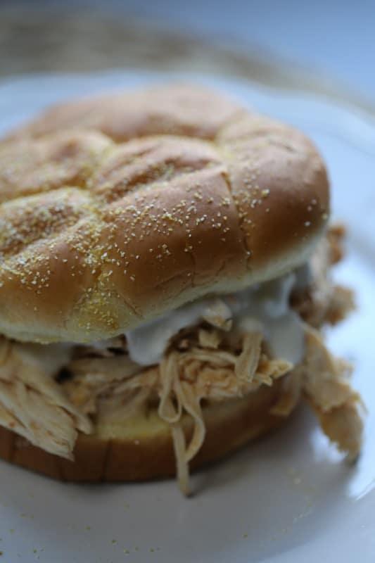Crock Pot Buffalo Chicken Sandwich
