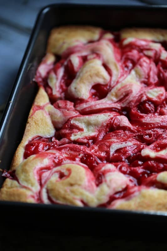 Marbeled Cherry Cake