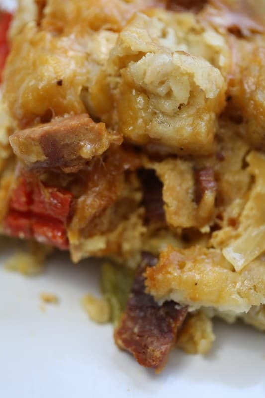 Crock pot tater tot breakfast casserole recipe for Crockpot breakfast casserole recipes