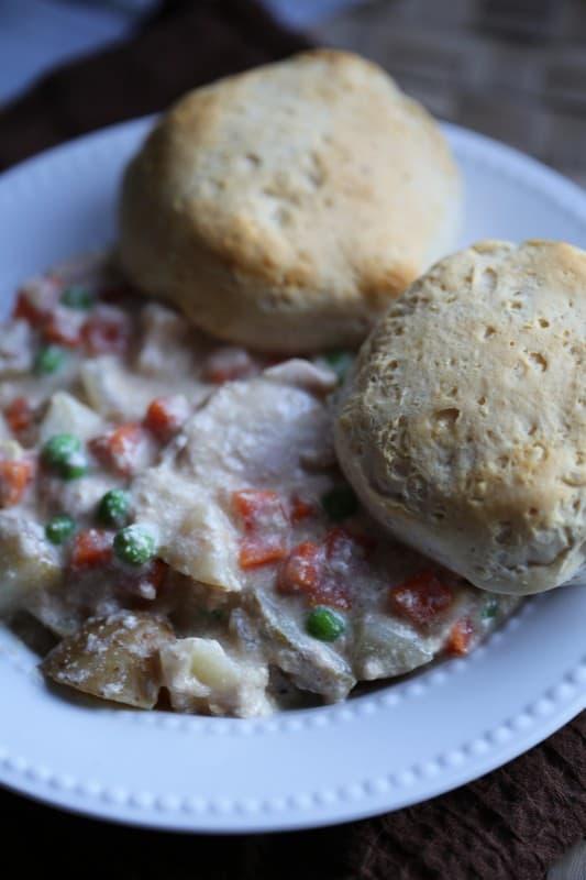 Crock Pot Chicken and Biscuit Pot Pie Recipe