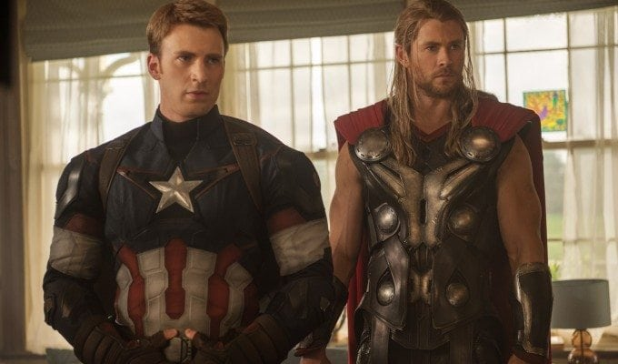 Avengers Age of Ultron interview with Chris Hemsworth and Chris Evans #AvengersEvent