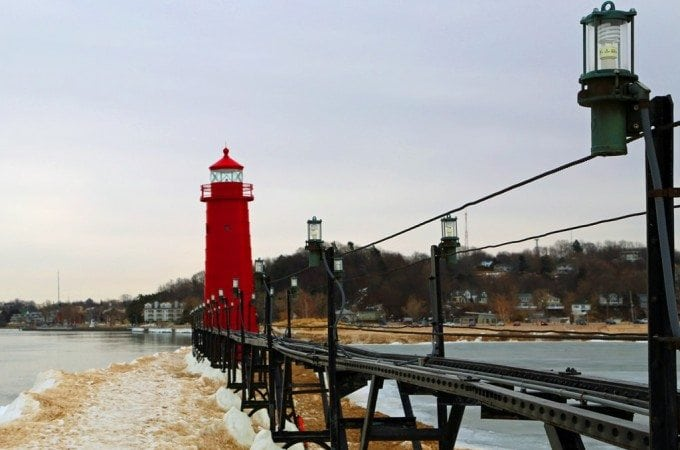 Grand Haven Lighthouse and Pier in the winter!