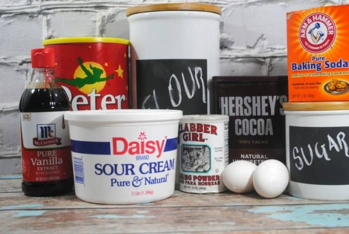 Peanut Butter Chocolate cupcakes ingredients