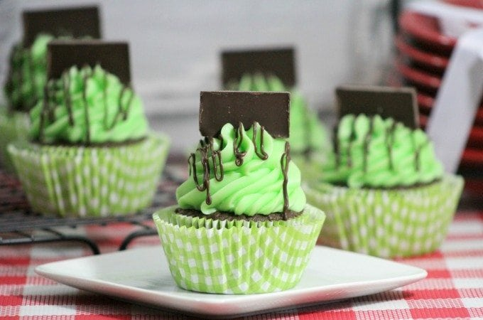 Andes Mint Chocolate Cupcakes Recipe