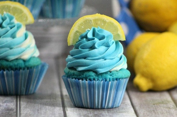 Easy Homemade Blueberry Lemonade Cupcake Recipe