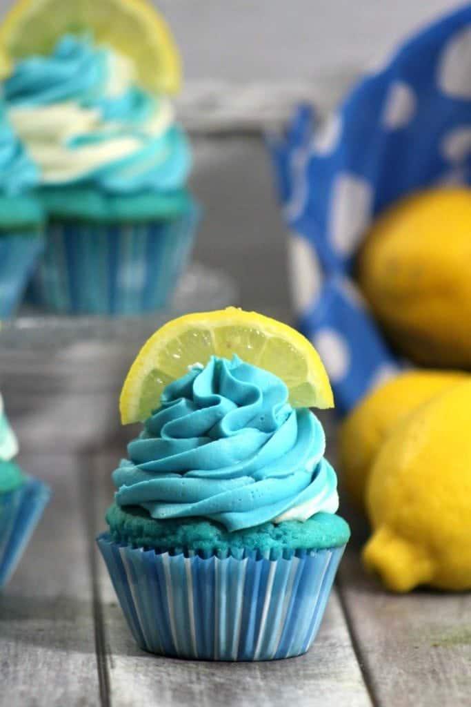 Blueberry Lemonade Cupcake