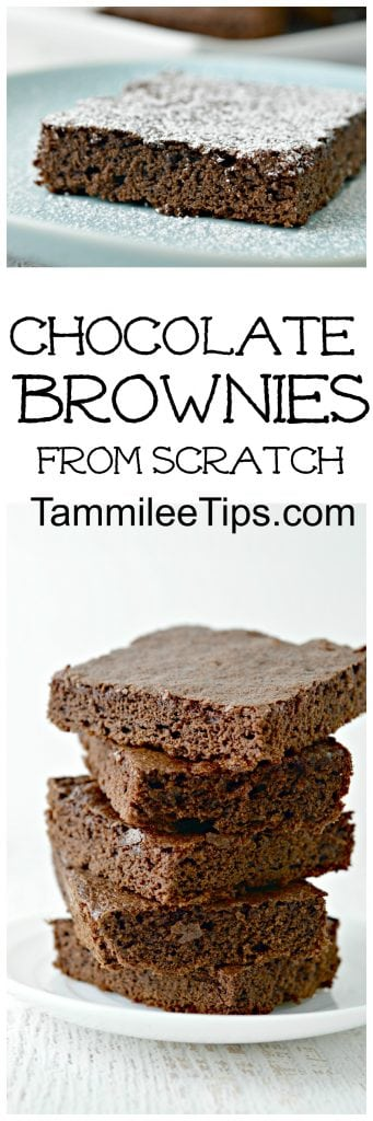 Classic Easy Chocolate Brownies recipe from scratch! Homemade fudgy chocolate goodness!  Best dessert recipe you will try this week!