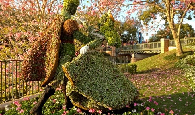 Classic Disney Topiary at the Epcot Flower and Garden Festival