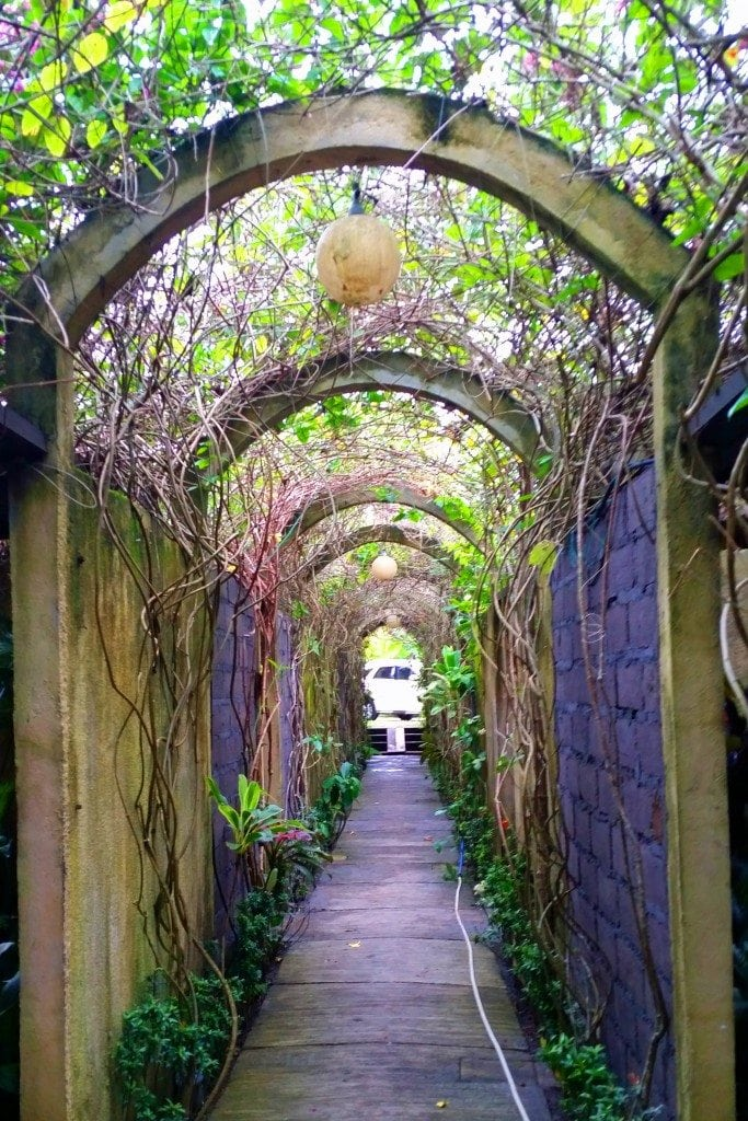 Hallway leading to private massage rooms Ubud Bali