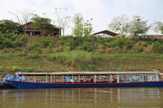 Our amazing boat ride on the Mekong River between Thailand and Laos